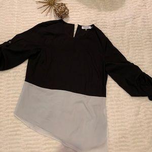 Like New Calvin Klein Black & White Blouse Size XS